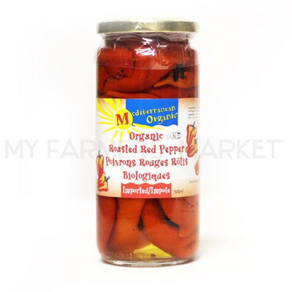 Organic Roasted Red Peppers 500ml