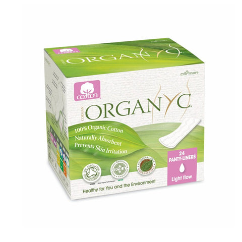 ORGANIC PANTY LINERS light flow wrapped 24