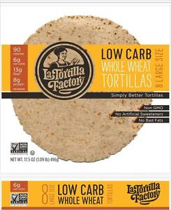 La Tortilla Whole Wheat Wrap 8 Large