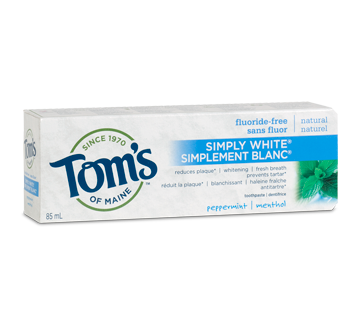 TOMS SIMPLY WHITE PEPPERMINT 85ML