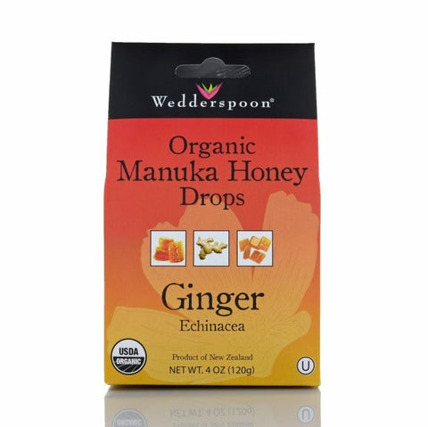MANUKA HONEY DROPS GINGER 120G