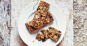 Rye and Blueberry Flapjack