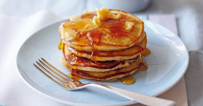Pancake Stack with Whipped Maple Butter