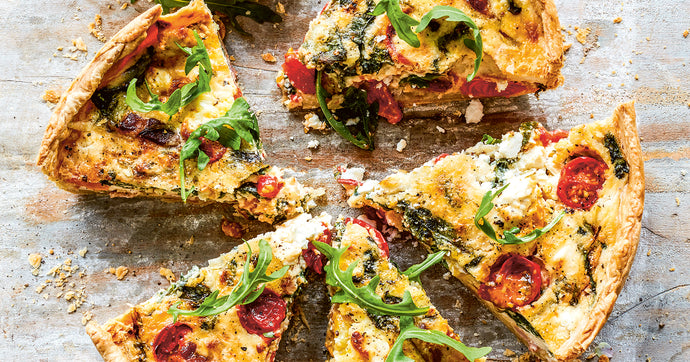 Crowned Spinach and Feta Quiche
