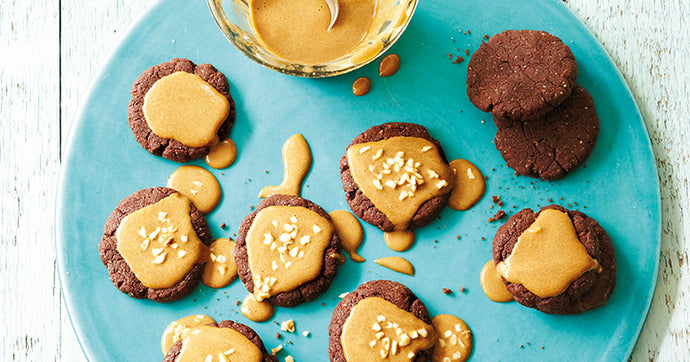 Vegan Coffee Toffee Cookies