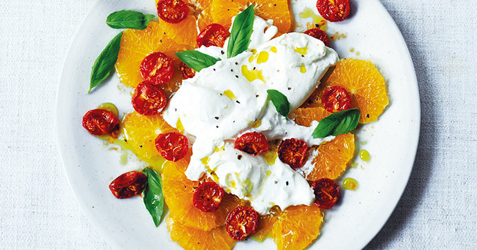 Sun-blush Tomato, Orange & Burrata Salad