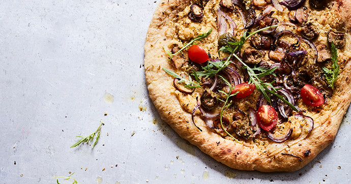 Vegan Hummus Pizza