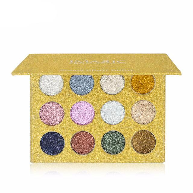 Paleta de Sombras Glitter Magic com 12 Cores