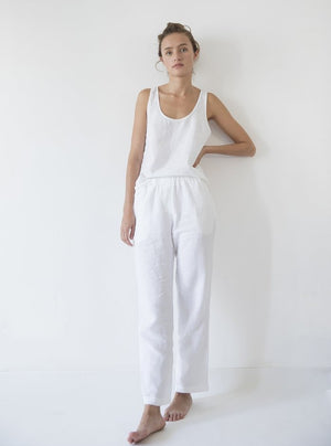 Load image into Gallery viewer, Linen Pant White | M,L