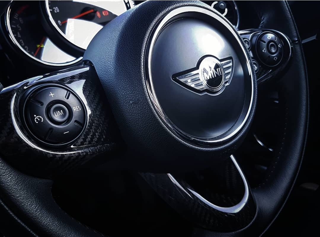 F56 carbon steering wheel covers