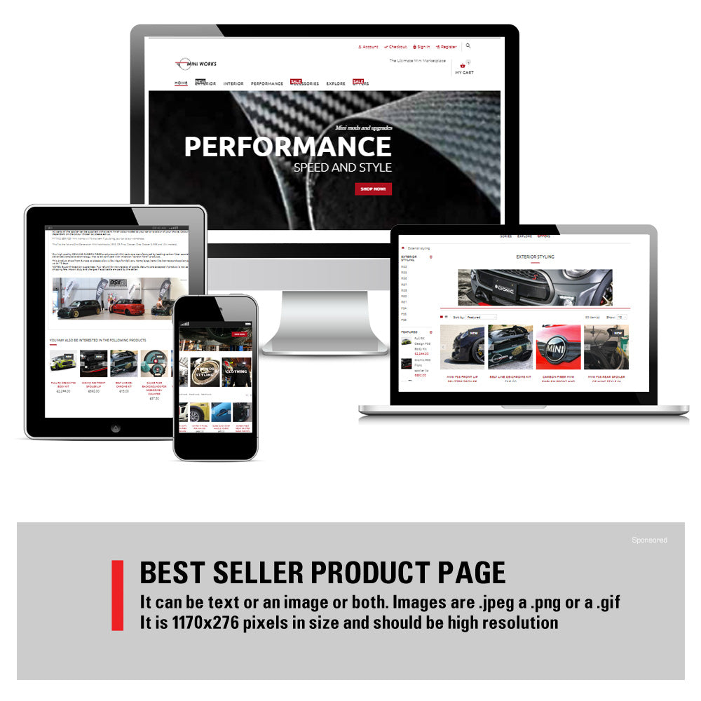 Best selling products advertising at Mini Works