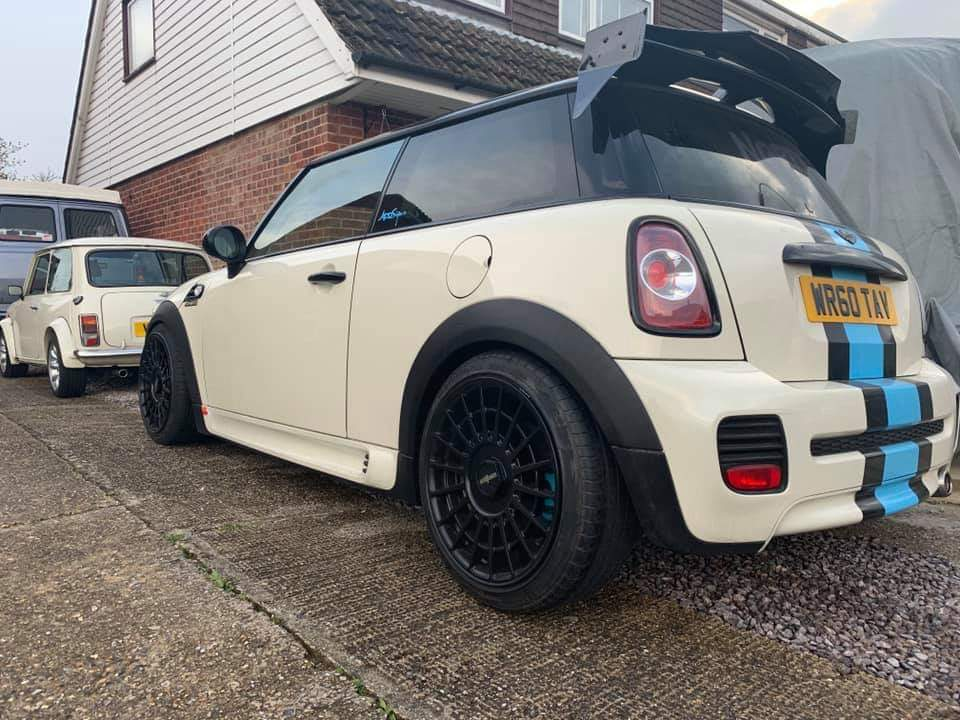 Mini Cooper R56  AG Style Rear Spoiler wing in Carbon Fiber and GRP