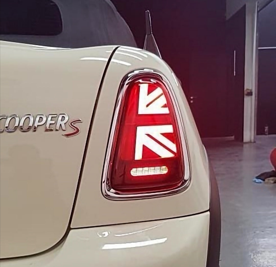 Mini Cooper R56 R57 R58 R59 tail lights union jack mini works mini parts aftermarket lights