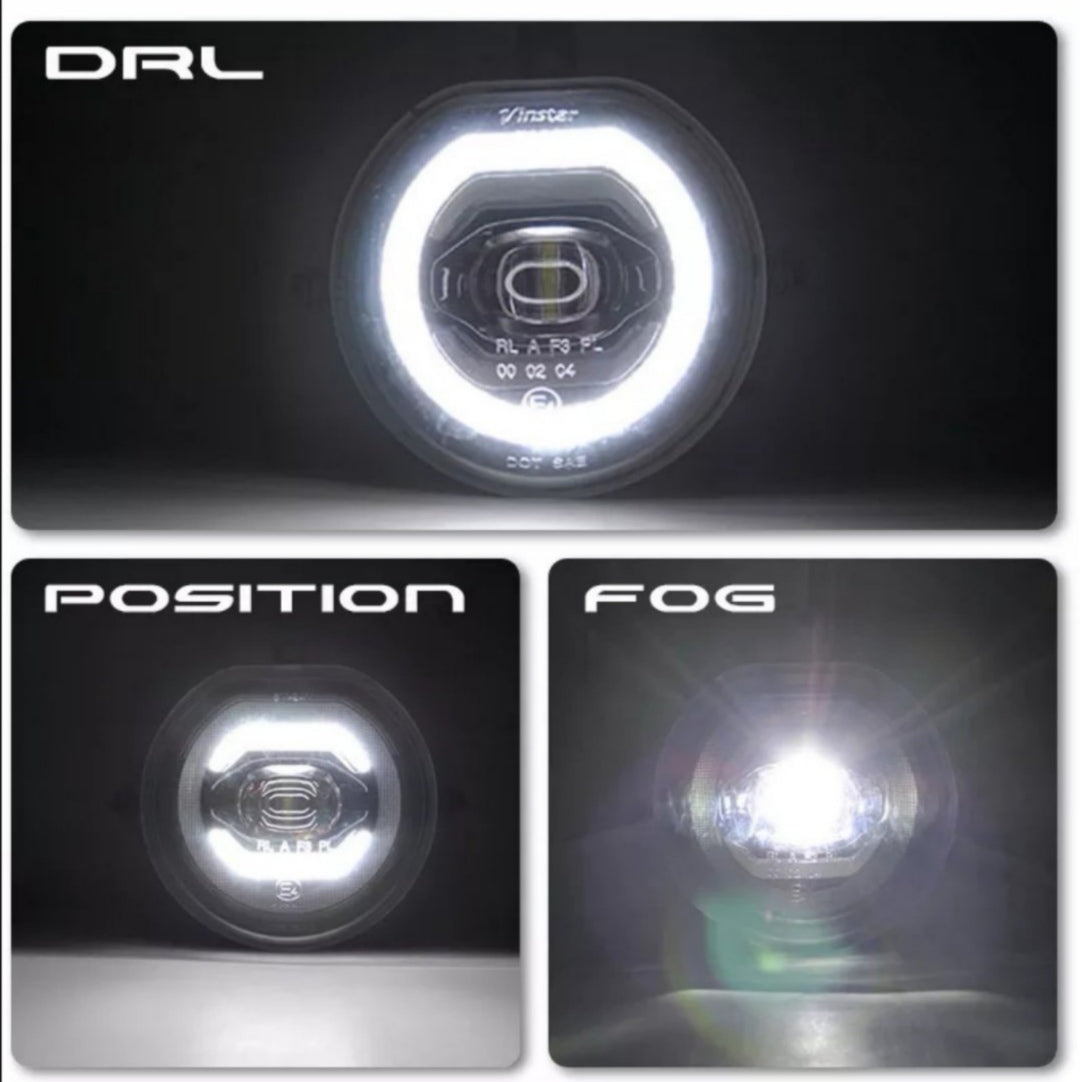Mini F56 gen 3 halo side lights driving lights