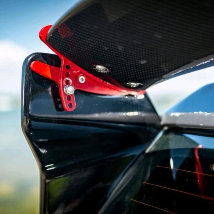 RSIC6 rear spoiler adjuster system for Mini gp type wing