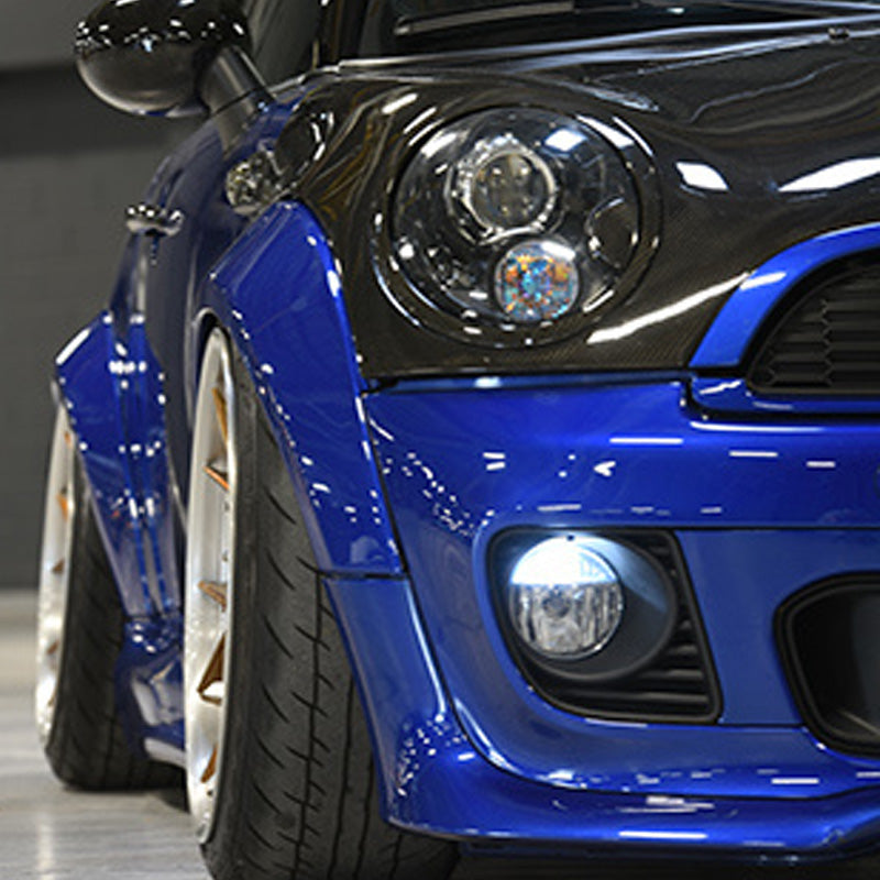 Wide wheel arch kit GRP/Carbon Fiber for Mini R56