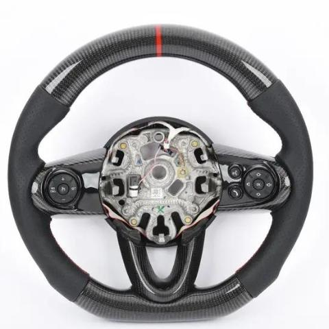 MINI carbon steering wheel R55 R56 R57 R58 F55 F56 F57 F58 F60 Second gen Third Gen Caron retrimmed