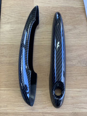 Gloss black door handle covers