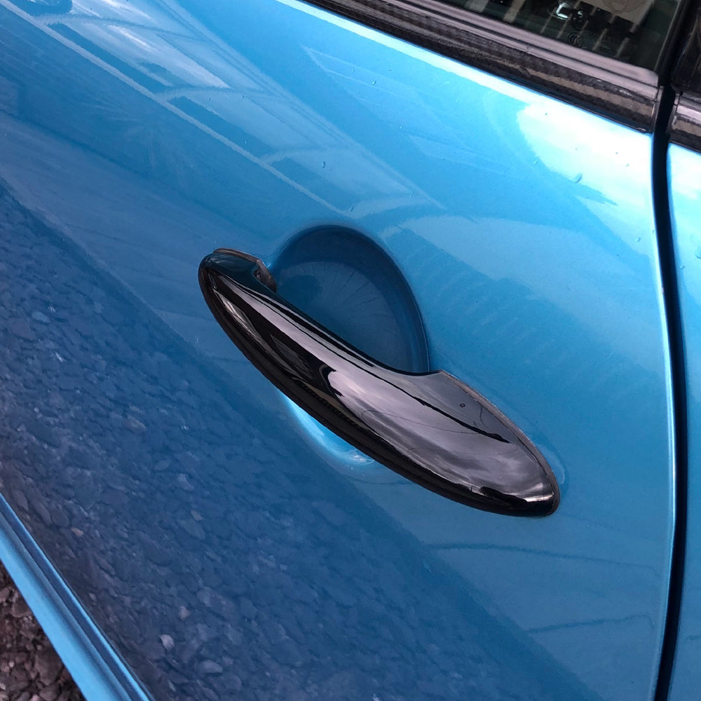 Mini cooper R56 and R53 gloss black dechrome door handle covers