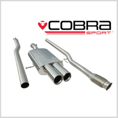 Cobra Cat Back Exhaust (Resonated) for Mini Cooper S Coupe (R58 & R59) 2011-2013