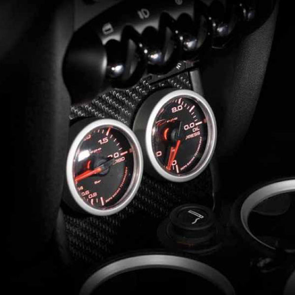 Mini Cooper carbon fiber instrument gauge pod