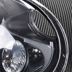 Mini Cooper carbon fiber headlight surround trims