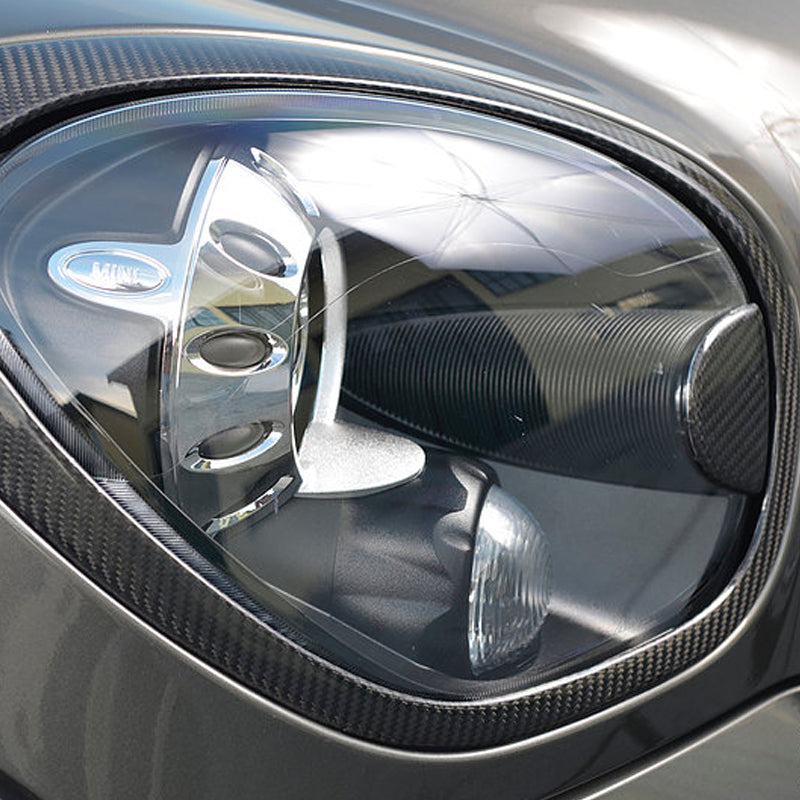 Carbon fiber headlight trim for Mini R60 and R61