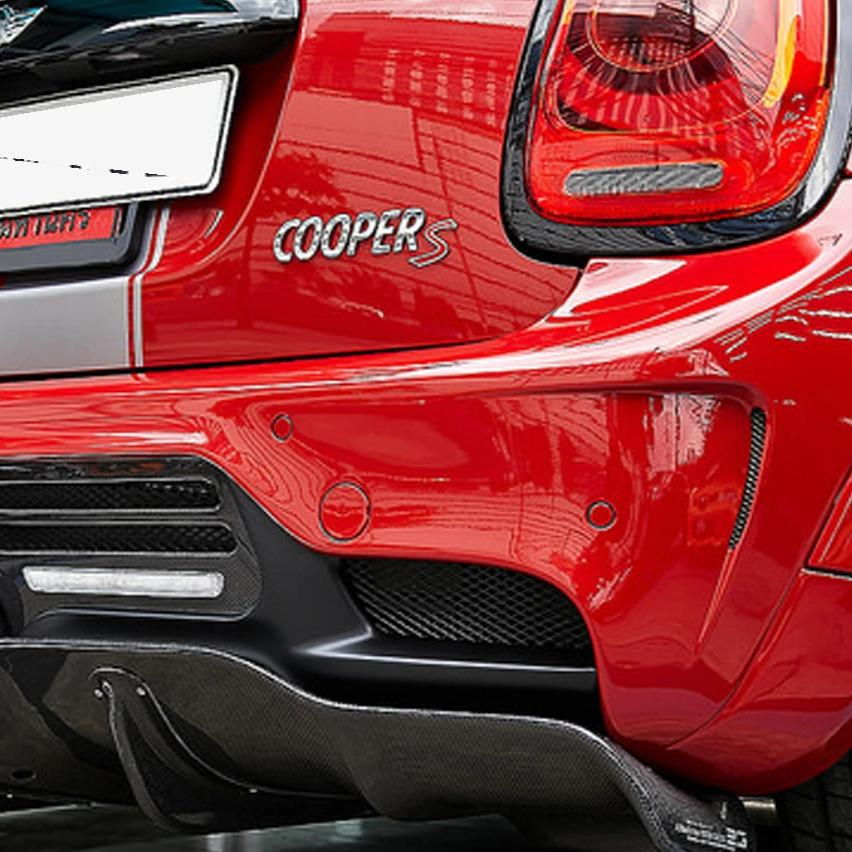 DUELL AG STYLE REAR DIFFUSER in black finished FIBER GLASS for painting FOR Mini F55 F56