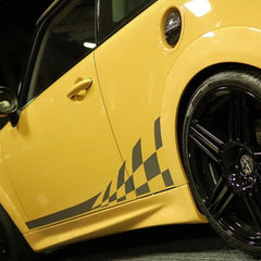 Duell Style Fiber Glass Side Skirt For BMW Mini Cooper R56