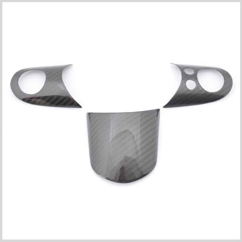 Carbon Fiber Steering wheel trims for Mini R53 with multi function steering wheel controls