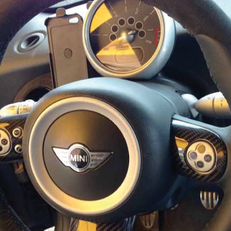 Carbon Fiber Steering Wheel Trims For Mini R56 And R53 Mini Works