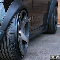 Wide wheel arch kit for Mini F56 in Fiberglass