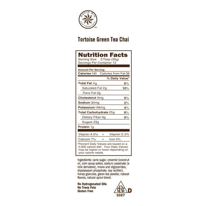 Té Chai 398gr (DAVID RIO) Tortoise Green Tea
