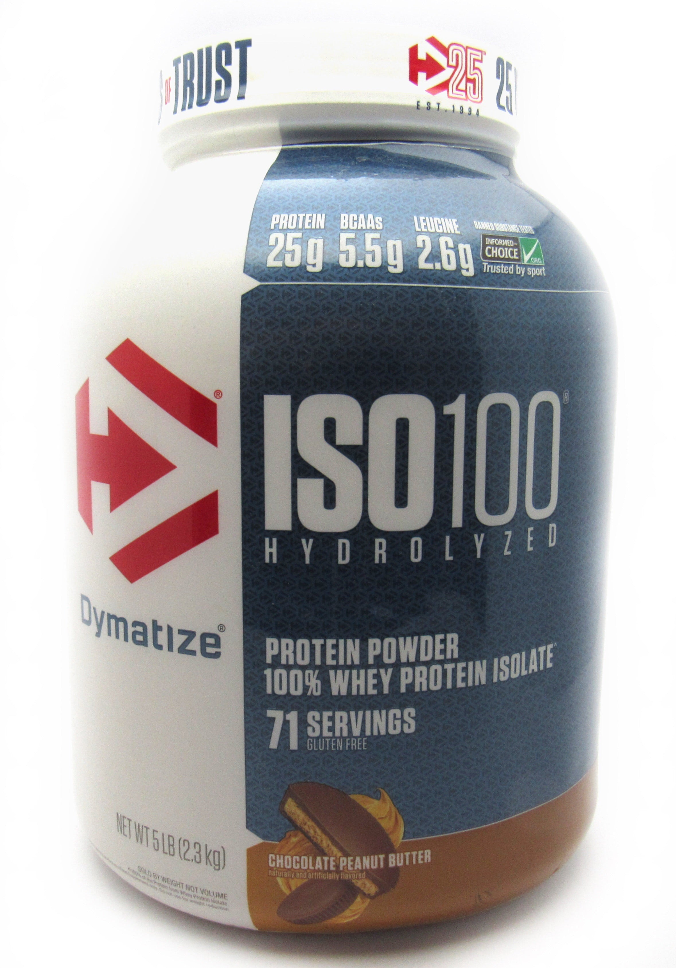 Proteína 5Lb (ISO100 - DYMATIZE) Chocolate Peanut Butter