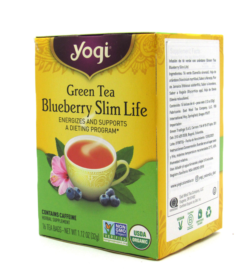 Te yogi green tea blueberry Slim life