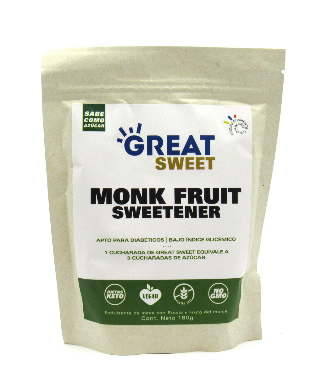 Endulzate Monk Fruit 180gr (GREAT SWEET)