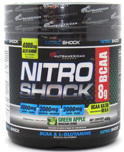 BCAA + L Glutamina 440gr (NITRO SHOCK) Green Apple