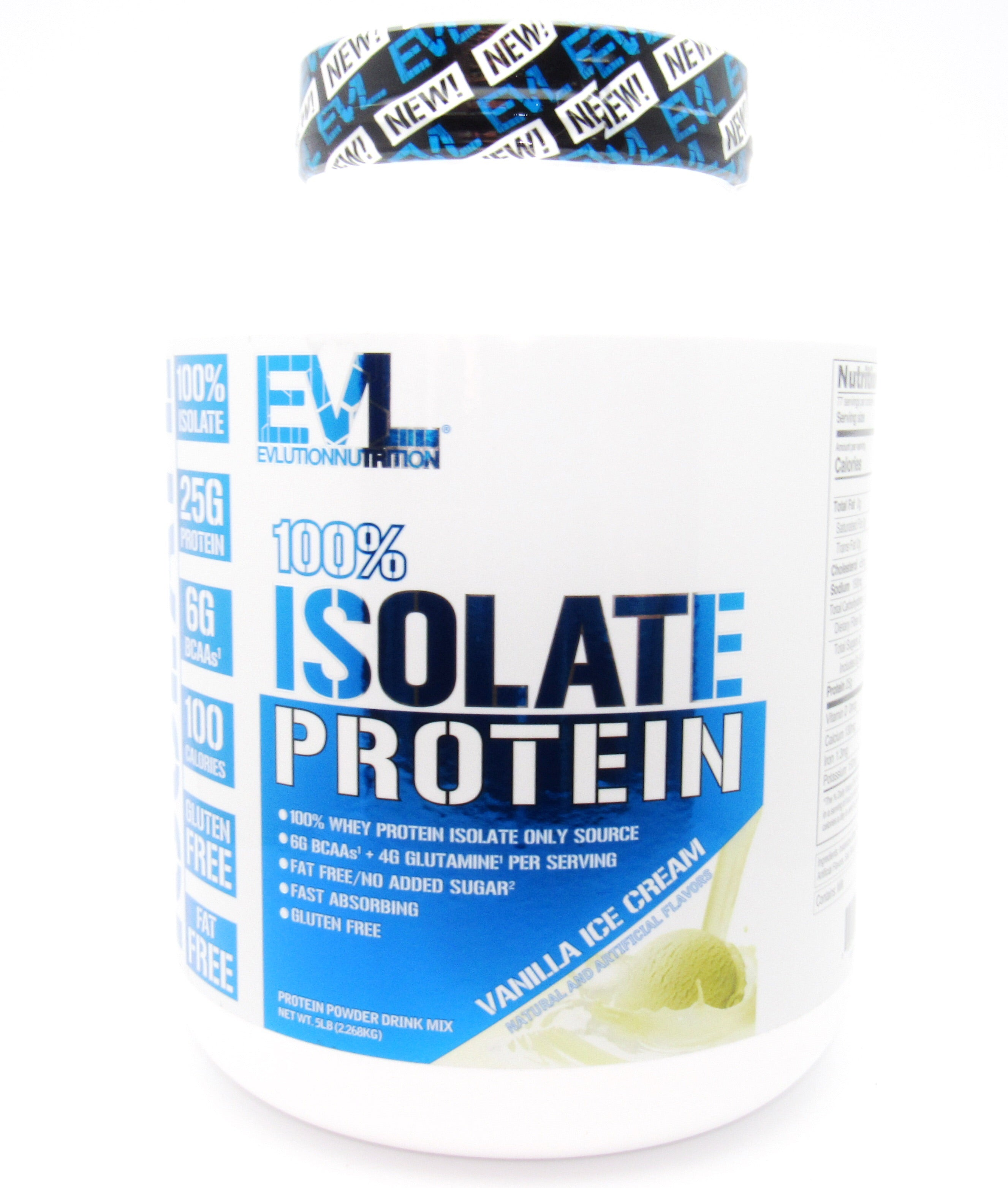 Proteína Isolate 5Lb (EVL) Vainilla Ice Cream