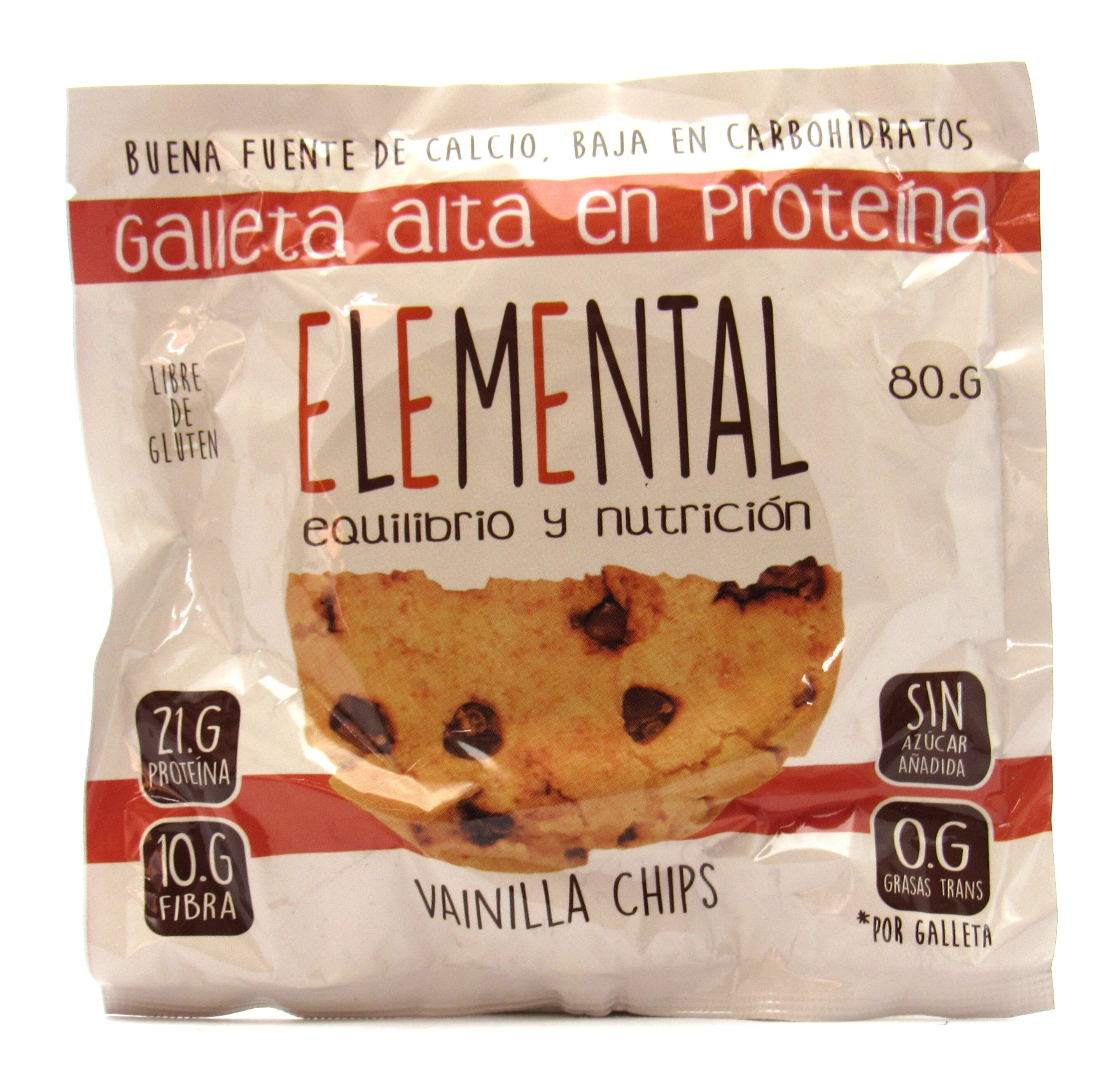 Galleta 80gr (ELEMENTAL)  Vainilla Chips