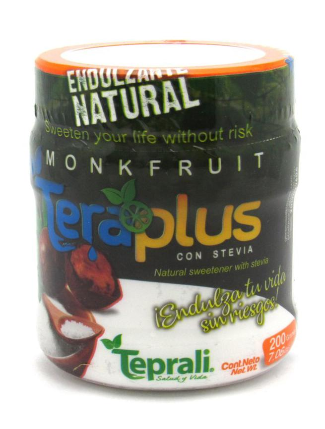Monkfruit Endulzante Natural 200gr (TEPRALI) con Stevia