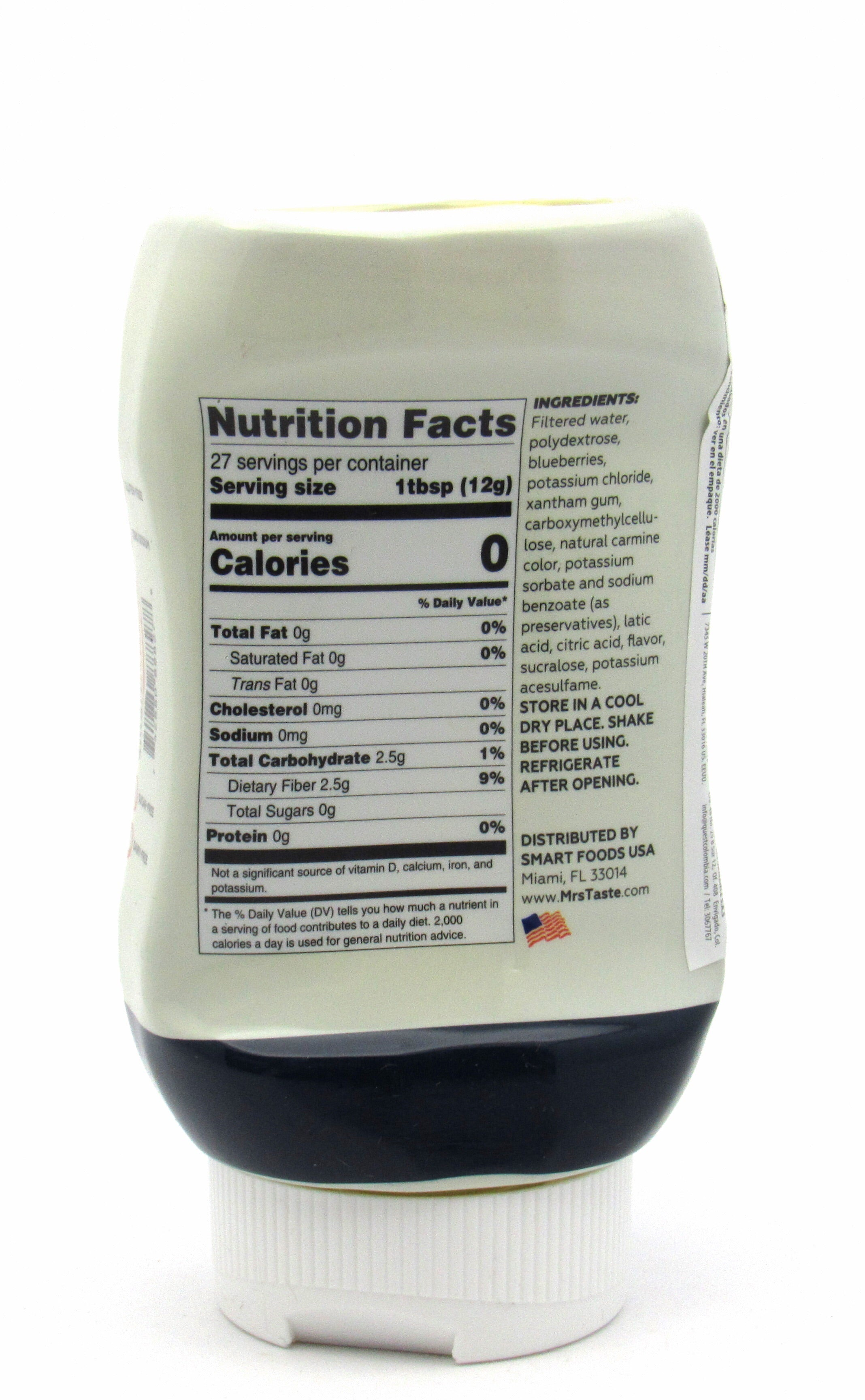 Syrup 335ml (MRS TASTE) Blueberry