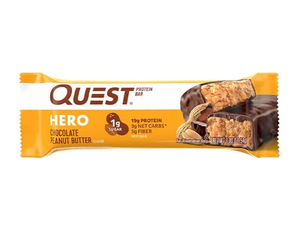 Barra Proteína Hero 54gr (QUEST) Chocolate Peanut Butter