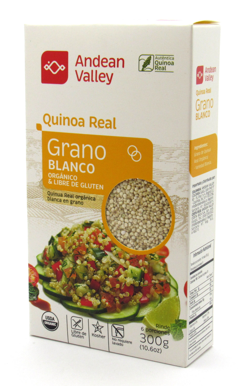 Grano de Quinua Real 300gr (ANDEAN VALLEY) Blanco