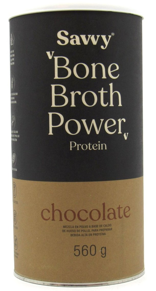 Protein Bone Broth Power 560gr (SAVVY) Chocolate