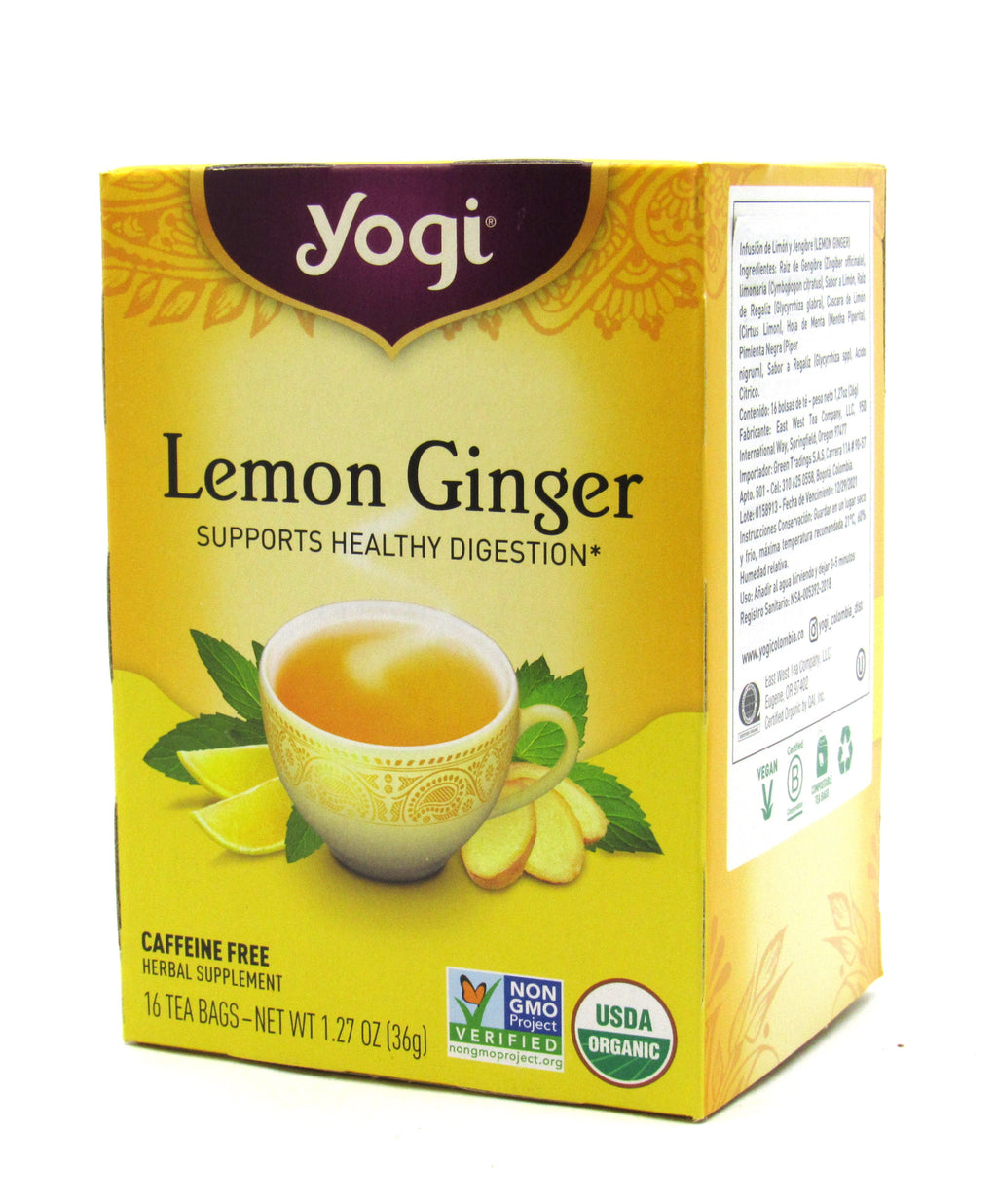 Te yogi lemon ginger