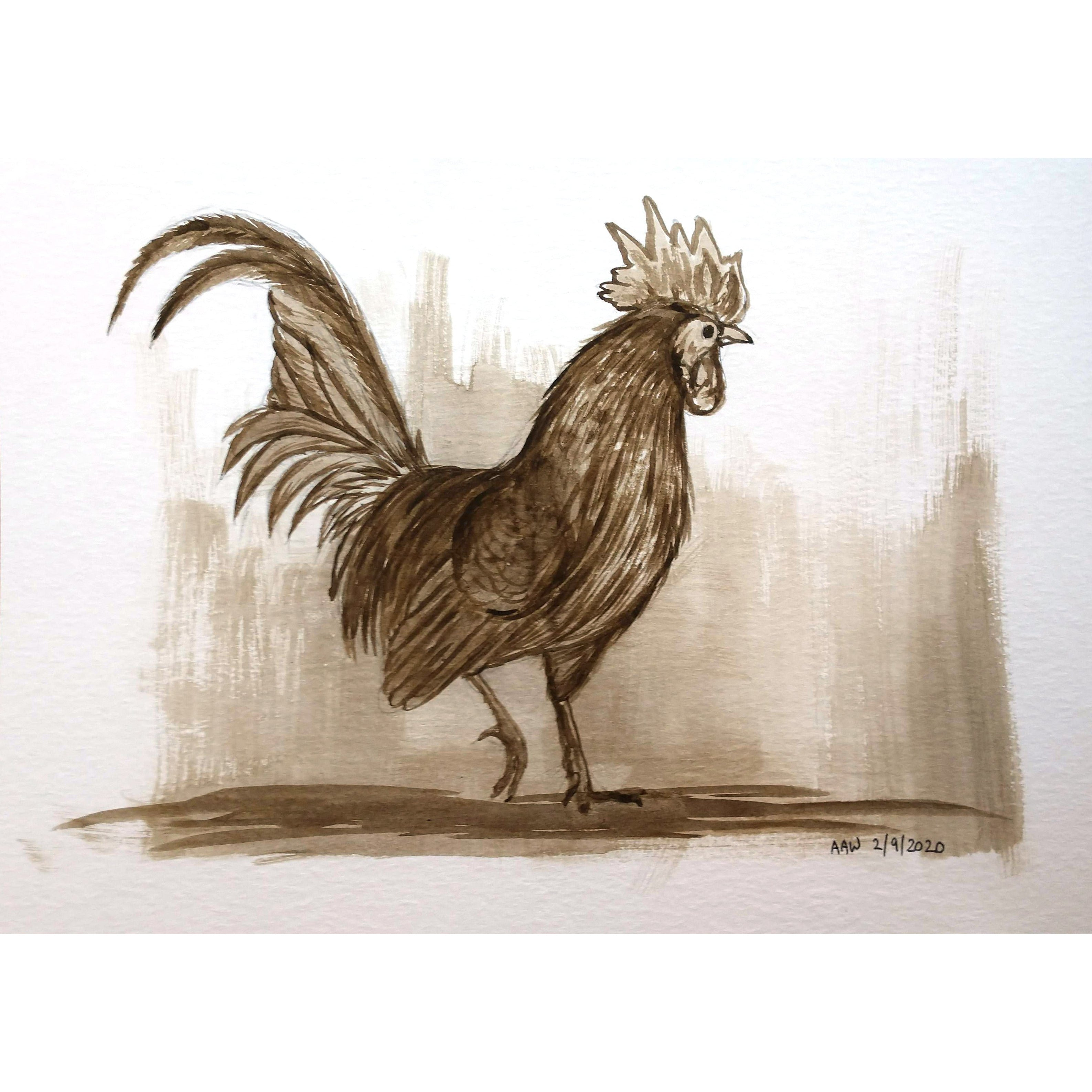 """Sepia Rooster"""