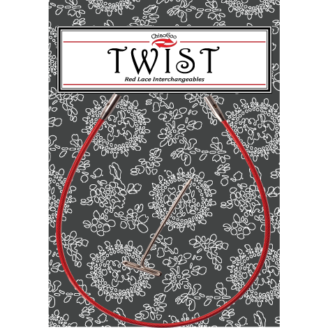 TWIST Red Cables for Interchangeable Knitting Needle Tips