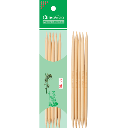8 Inch Bamboo Double Pointed Knitting Needles