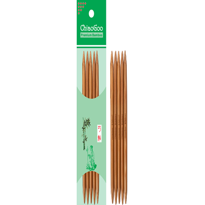 6 inch Bamboo Double Pointed Knitting Needles
