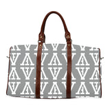 F-FIVE TRAVEL BAG BROWN STRAP GREY/WHITE
